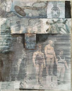 Rauschenberg Canto XXXI: The Central Pit of Malebolge, The Giants, from the series Thirty-Four Illustrations for Dante's Inferno 1959–60