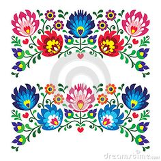 Click the link. Tons of Polish folk embroidery images. Definitely making some pillows with these as inspiration.