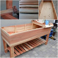 DIY Garden Box, Maybe Add A Water Tight Seal To The Interior To Make It