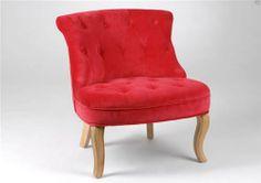 Chauffeuse velours - rouge - collection Charme par Amadeus http://www.plumedinterieur.com/chauffeuse-velours-rouge-c2x12947240