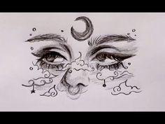 Dark Art Drawings, Pencil Art Drawings, Cool Drawings, Random Drawings, Unique Drawings, Girl Drawing Sketches, Art Drawings Sketches Simple, Sketch Art, Tumblr Drawings Easy