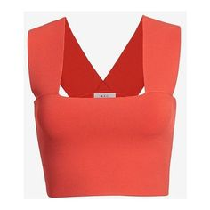 A.L.C. Ali Crop Tank featuring polyvore, fashion, clothing, tops, crop top, shirts, red, bandeau tops, shirts & tops, strappy crop top, a.l.c top and shirt crop top