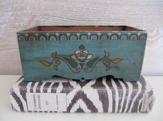 Hand-Painted Antique Wooden Box in Beauport by billysbungalow