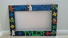 Ninjago birthday photo booth frame