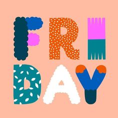 Friday typography
