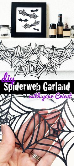 DIY Spiderweb garlan