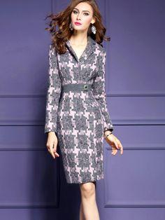 Plain Three-Quarter Sleeve Ruffle Sleeve Women's Bodycon Dress : Tbdress.com