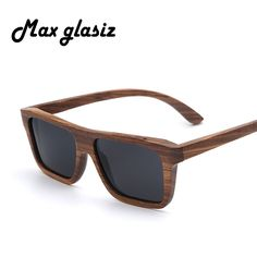 New 2017 Fashion Handmade Wood Sunglasses Square Shaped Square Designer for Men Women Polarized Glasses lunettes de soleil homme