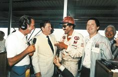 The Storied Career of Richard Petty--President Ronald congratulates King Richard on his 200th victory. Reagan was the first sitting POTUS to attend a NASCAR race.