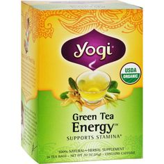 Yogi Tea Green Tea Energy - Contains Caffeine - 16 Tea Bags