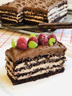 Tort de ciocolată cu zmeură și mascarpone – Chef Nicolaie Tomescu Sweet Desserts, Healthy Desserts, Easy Desserts, Dessert Drinks, Dessert Bars, Sweets Recipes, Cookie Recipes, Cooking Videos Tasty, Romanian Desserts