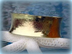 Hammered Brass Anticlastic Cuff by BentTwistedCreations on Etsy, $45.00