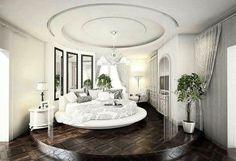 white and silver bedroom  | via monica renea