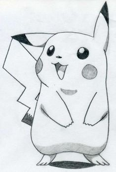 Easy pencil drawings easy drawing ideas step by step Easy Pencil Drawings, Easy Cartoon Drawings, Art Drawings Sketches Simple, Animal Drawings, Drawing Ideas, Drawing Tips, Pikachu Drawing Easy, Awesome Drawings, Sketch Drawing