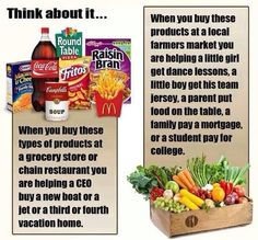 Eat local, support local