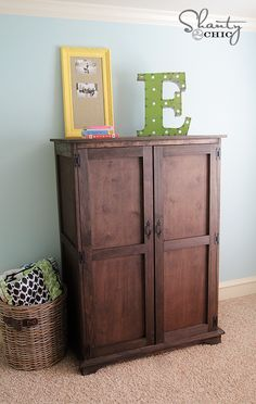 DIY Pottery Barn Kids Armoire- mostly plywood!!!
