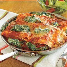 Spinach-Ricotta Skillet Lasagna Recipe | MyRecipes.com