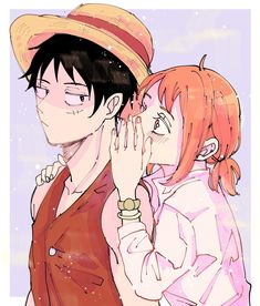 Luffy X Nami, Nami One Piece, One Piece Fanart, Monkey D Luffy, The Masterpiece, Doujinshi, Character Art, First Love, Animation