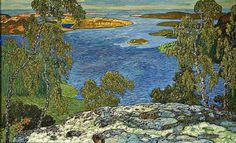 Helmer Osslund, Summer landscape from Nordingrå