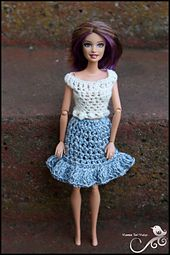 Ravelry: Barbie Denim Skirt pattern by Myshelle Cole