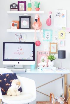 home office tour decor pequeno decoração blog do Math (insta @mathdoblog)