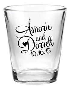 144 Personalized 1.5oz Wedding Favors Glass Shot by Factory21, $161.24