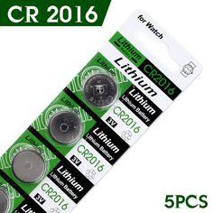 10 Pcs 3 V Lithium Coin Sel Tombol Baterai CR2016 DL2016 KCR2016 BR2016 LM2016 kepadatan energi Tinggi, umur panjang expantancy