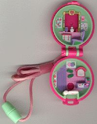 1991 - Polly Pocket Polly in her Keep-Fit Locket - Bluebird Toys