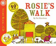 Use the book Rosie's Walk to teach positional words. Print story props to help kids retell  the story using positional words at http://www.kizclub.com/stories.htm