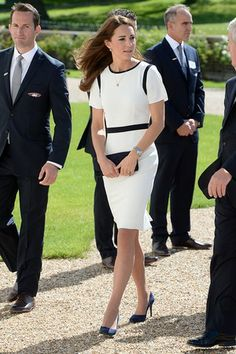 The Duchess of Cambridge in Jaeger. [Photo by Doug Peters/Doug Peters/EMPICS Entertainment]