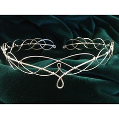 Silver plated Medieval Celtic LOTR Fantasy Faerie Circlet Tiara... ❤ liked on Polyvore featuring accessories, hair accessories, jewelry, celtic hair accessories, head wrap headband, tiara headband, hair bands accessories and headband tiara