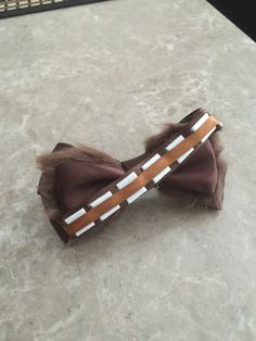 chewbacca star wars hair bow by Dreamloveandbows on Etsy
