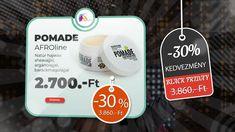 AFROline Black Friday novemberi 30%-os akció. Jumbo Braid Kanekalon Pomade hajwax Black Friday