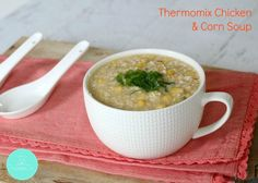 Keep warm this Winter with a big bowl of Thermomix Chicken & Corn Soup. Chinese Chicken Corn Soup, Thermomix Soup, Soup Recipes, Cooking Recipes, Recipies, Bellini Recipe, Winter Soups, Super Healthy Recipes, Healthy Mummy