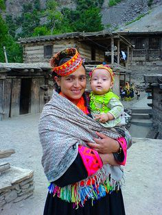Kalash Woman With Her Baby pakistan