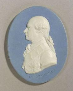 Wedgwood Light Blue Jasper Dip Portrait Medallion of Charles Watson Wentworth   Sale Number 2222, Lot Number 220   Skinner Auctioneers