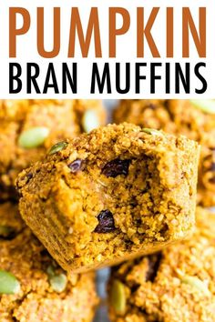 These hearty pumpkin bran muffins are easy to whip up and provide a good source of fiber and protein. Only 160 calories per muffin! Perfect for the holidays! Healthy Thanksgiving Recipes, Fall Recipes, Whole Food Recipes, Cooking Recipes, Drink Recipes, Brunch Recipes, Protein Cake, Protein Muffins, Protein Cookies