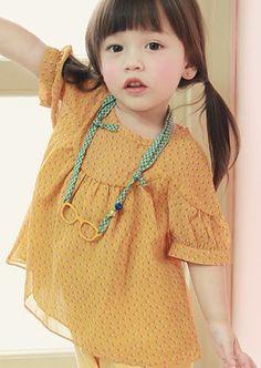 annikaアニカ プレイブラウス(グリーン) - 韓国子供服amber,annikaのtsubomiかわいい輸入服のセレクトショップ