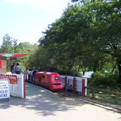 Poole Park, Dorset.  Martin and I used to ride this train, and once we tried to derail it.