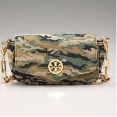 Tory Burch Camouflage Mini Cross Body Bag In Euc