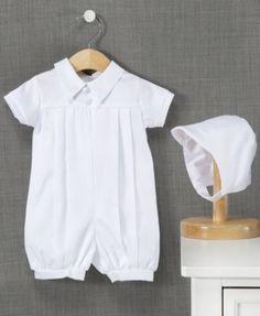Lauren Madison Outfit, Baby Boys Christening Romper
