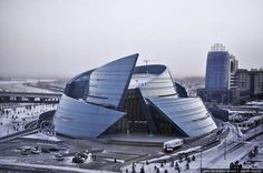 Astana, Kazakhstan by alex_del_piero_fan, via Flickr- Central Concert Hall, Architects: Studio Nicoletti Associati
