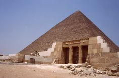 The great pyramid of giza, The giza pyramids were built by pharaohs cheops (khufu or kheops), chephren and menkaure on the west bank of the egyptian nile near the ancient capital of memphis. Description from makeupnet.info. I searched for this on bing.com/images