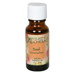 Nature's Alchemy Essential Oil, Basil (Ocimum Basilicum), 0.5 oz (15 ml), (Pack of 2) >>> Find out more details by clicking the image : basil essential oil