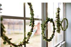 Wreaths via Ashley Ann Photography.
