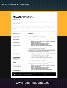 Cover Letter Format, Cover Letter For Resume, Modern Resume Template, Resume Design Template, Application Letters, Cv Design, Creative Resume, Resume Cv, Professional Resume