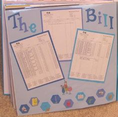 Your Bill from Cruising on a scrapbook page