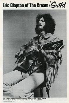 Eric Clapton of Cream for Guild Guitars circa late 60s Music, Music Pics, Music Stuff, Music Images, Rock N Roll, Cream Eric Clapton, Guild Guitars, Jack Bruce, Jazz