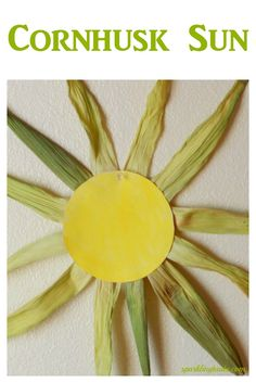 What to do with Cornhusk? Make a corn husk sun. It literally takes 10 minutes to make including drying time!