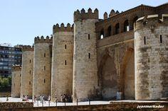 Zaragoza. Aljaferia Palace. Medieval Islamic Palace built in the 11th century.